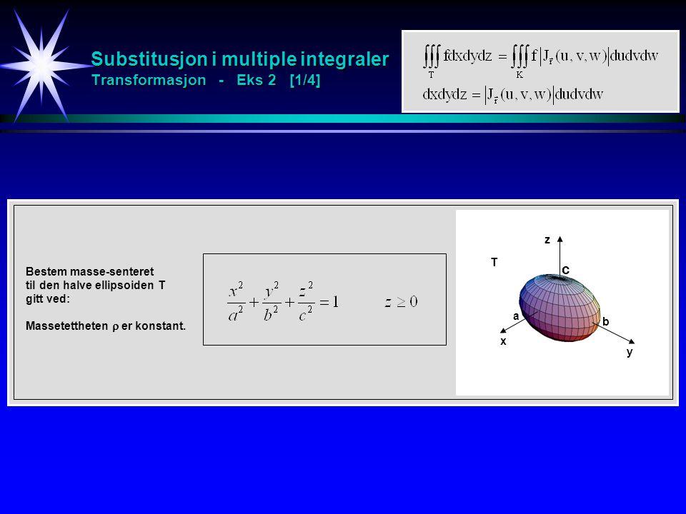 Substitusjon i multiple integraler Transformasjon - Eks 2 [1/4]
